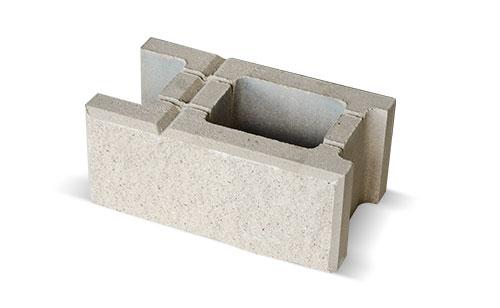 Biały blok betonowy z ogrodzenia łupanego Białystok