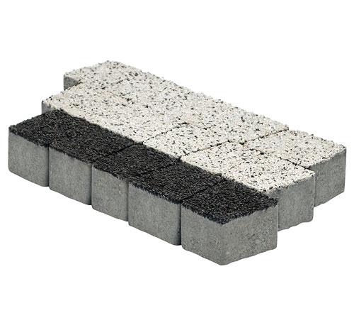 Dwukolorowy granit płukany kostka brukowa Białystok