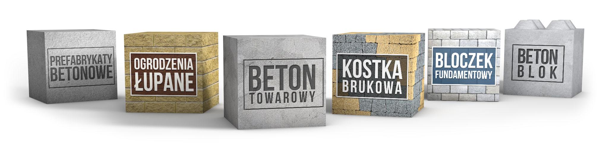 Kostki betonowe łupane z wyrobów betonowych Białystok