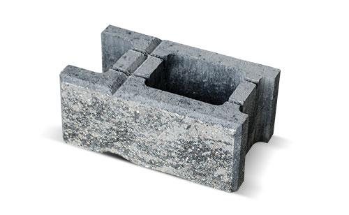 Szary bloczek betonowy łupany do ogrodzenia Białystok