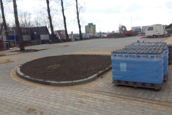Kostka brukowa na parkingu w Białymstoku