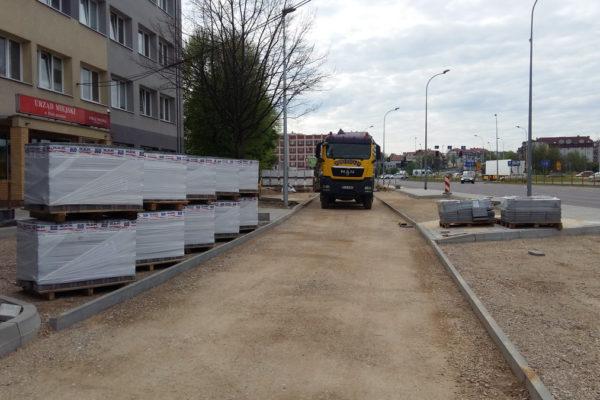 Białystok parking z kostki brukowej