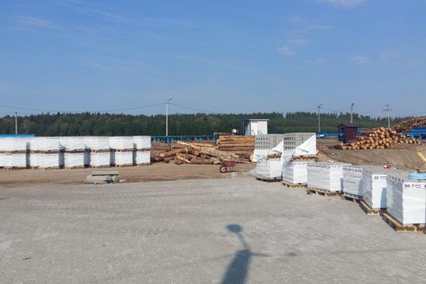 Wyroby betonowe na tartaku w Białymstoku