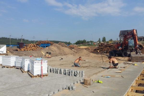 Wyroby betonowe użyte w tartaku w Białymstoku