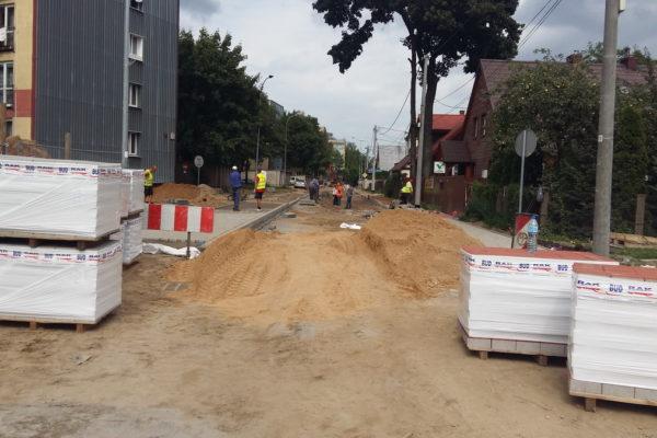 Parking oraz droga z kostki brukowej w Białymstoku