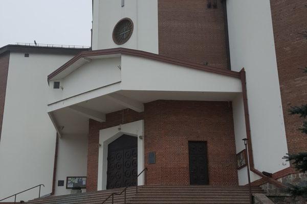 Kościół z kostką brukową z Białegostoku