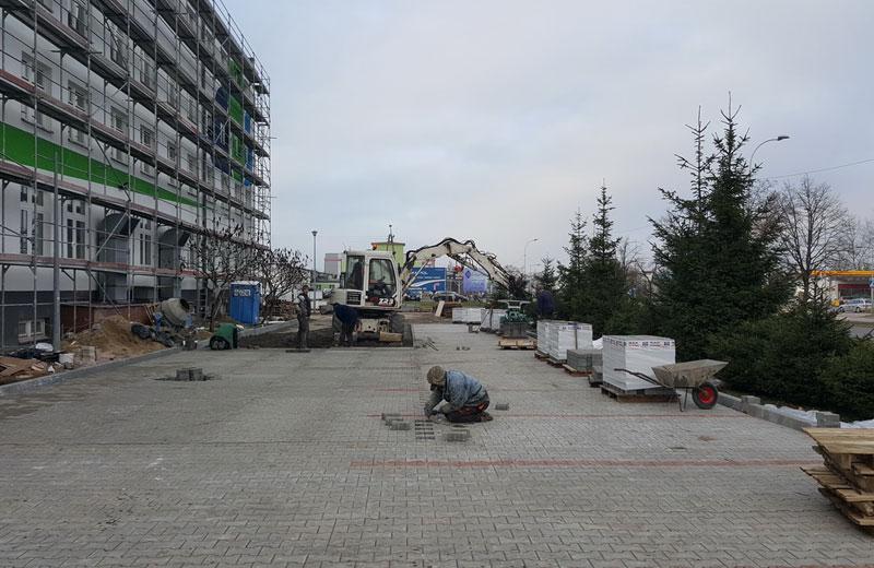 Kostka brukowa na ulicy Składowej w Białymstoku
