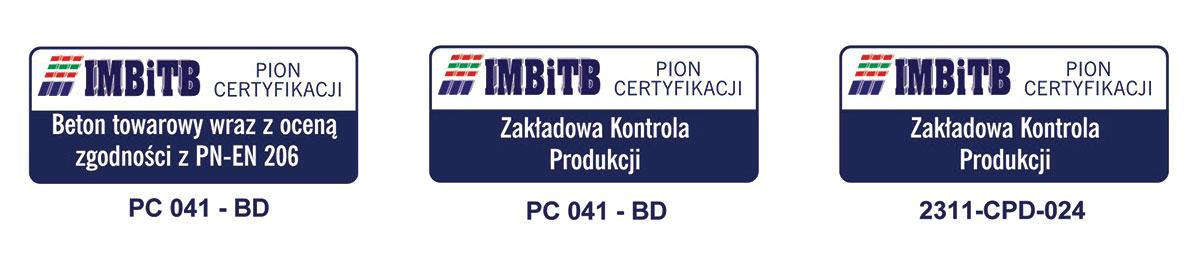 Certyfikaty prefabrykacji betonu RAK-BUD Białystok